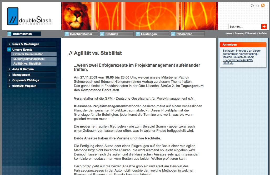 Agilität vs. Stabilität (GPM Event in Friedrichshafen)