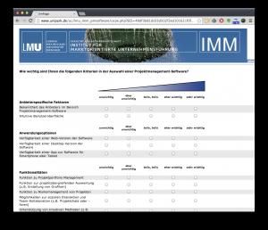 Projektmanagement Software Umfrage LMU